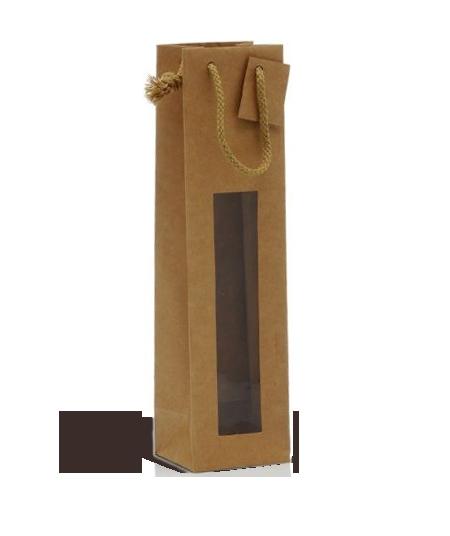 1 bottle Kraft bag