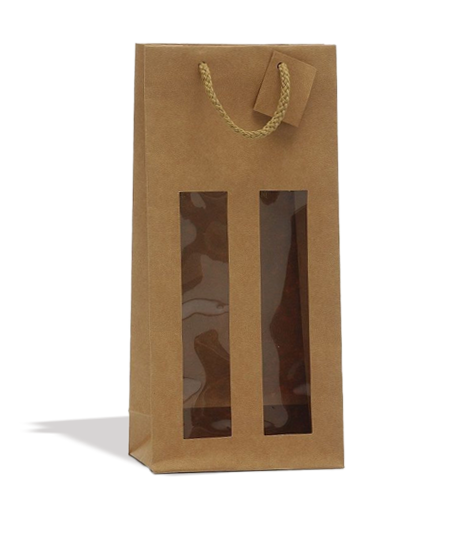 2 bottles Kraft bag